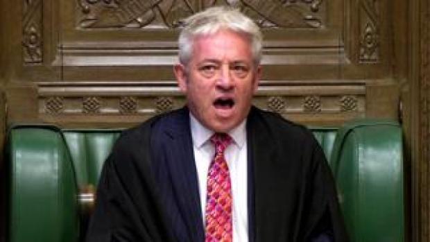 Speaker of the House John Bercow speaking in the Commons