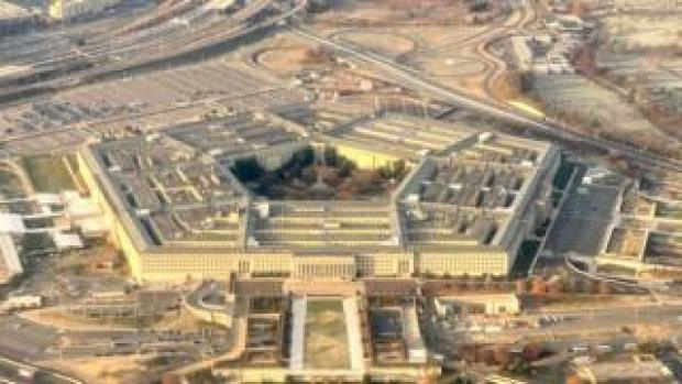 The Pentagon, the headquarters of the US defence department, located in Arlington County, across the Potomac River from Washington, DC