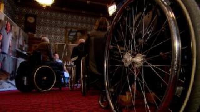 Victim's wheelchair