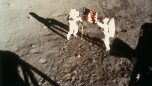 Neil Armstrong and Buzz Aldrin on Moon