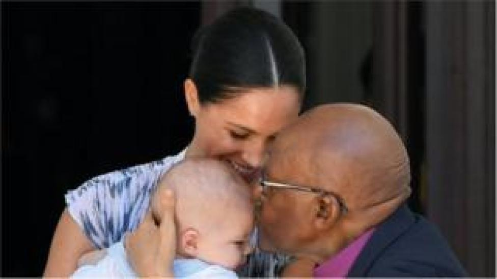 Archie meeting Archbishop Desmond Tutu