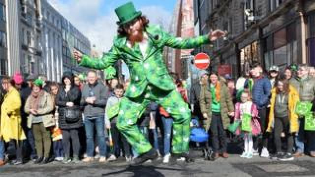 There was a carnival atmosphere in Belfast