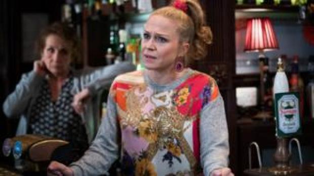 Kellie Bright in the Queen Vic in EastEnders