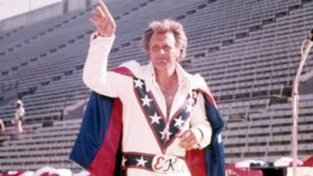 Archive photo of Evel Knievel circa 1976