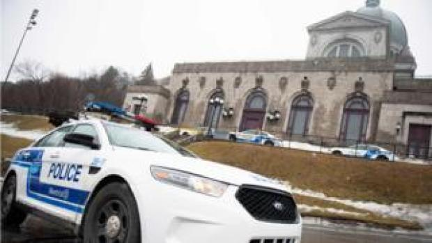 Police provide security at Saint Joseph's Oratory