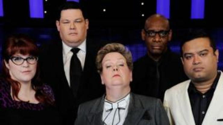 Paul Sinha (far right) with Jenny Ryan, Mark Labbett, Anne Hegerty and Shaun Wallace