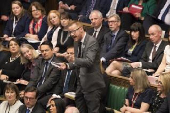 MP Lloyd Russell-Moyle speaks during Prime Minister's Questions