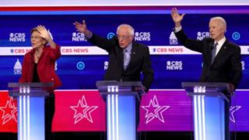 trump Elizabeth Warren, Bernie Sanders and Joe Biden