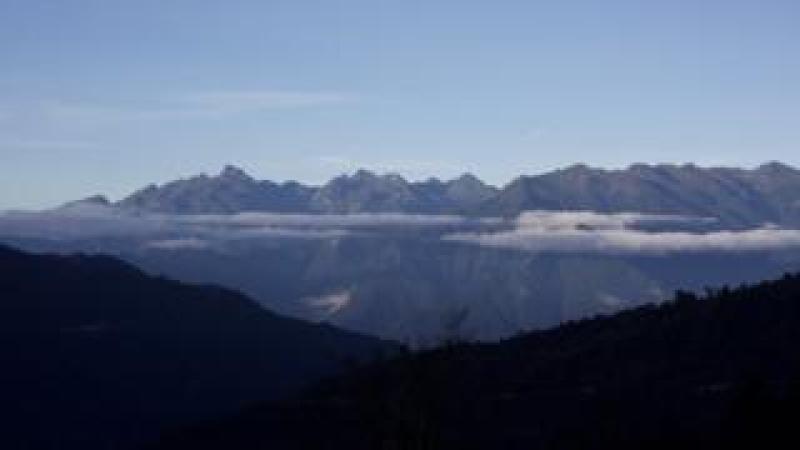 Bhutan mountain range