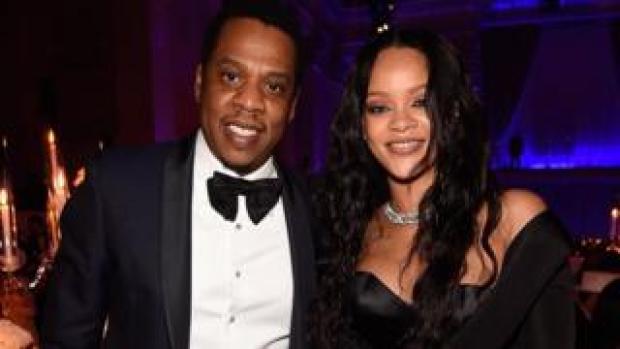 JayZ and Rihanna