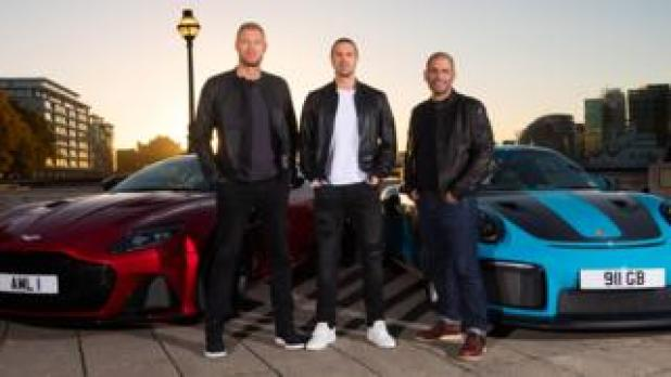 Freddie Flintoff, Paddy McGuinness and Chris Harris
