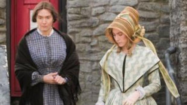 Kate Winslet and Saoirse Ronan filming Ammonite in Lyme Regis