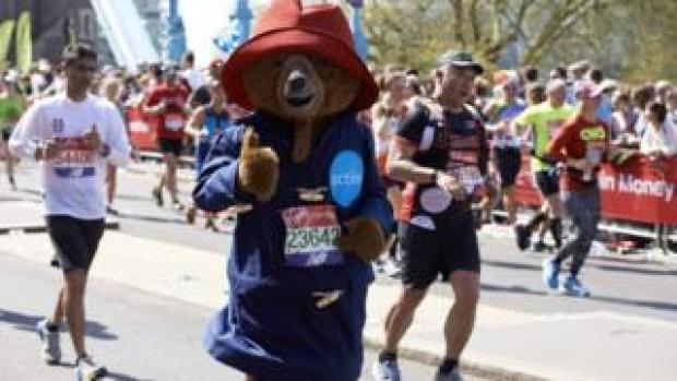Runner dressed as Paddington Bear