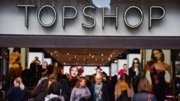 Outside Topshop