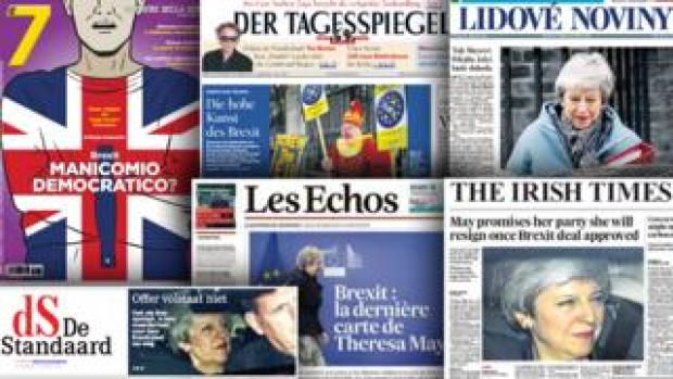 European press front pages