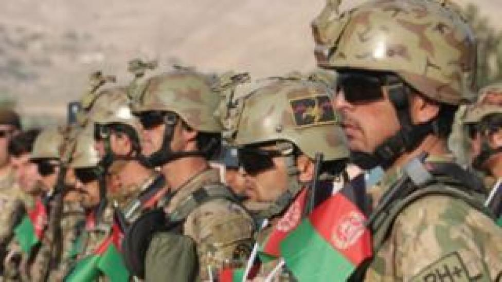 Afghan troops