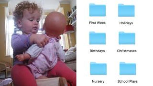 Child and files