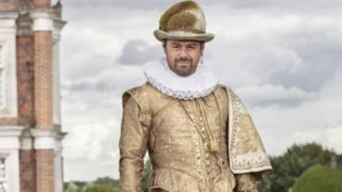 Danny Dyer in an Elizabethan ruff