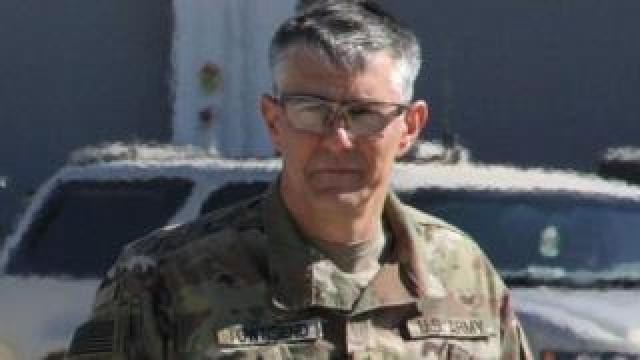 Lieutenant General Stephen Townsend in the Iraqi capital Baghdad, on 20 February, 2017.