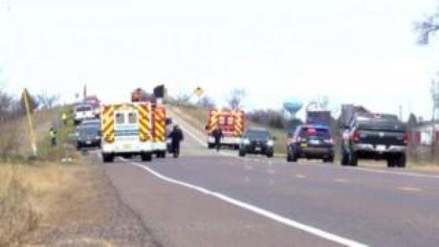 The deadly accident occurred on a rural road in Wisconsin on Saturday