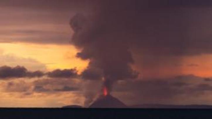 Anak Krakatoa eruption. Photo: 22 December 2018