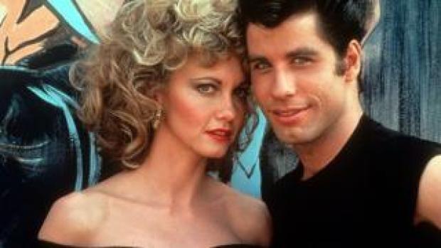 Olivia Newton-John and John Travolta in Grease