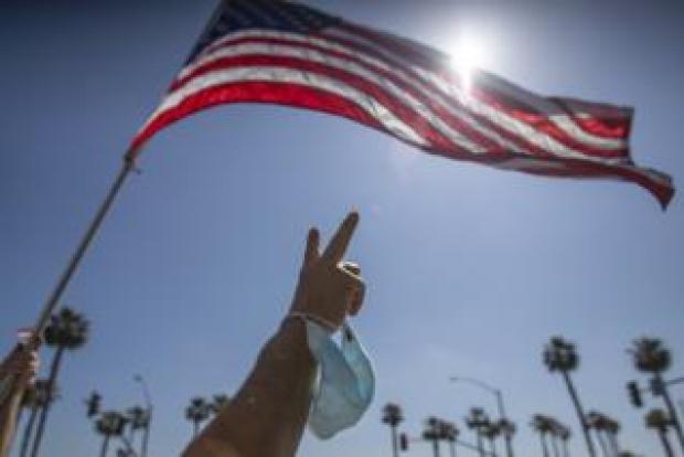 Californian protester