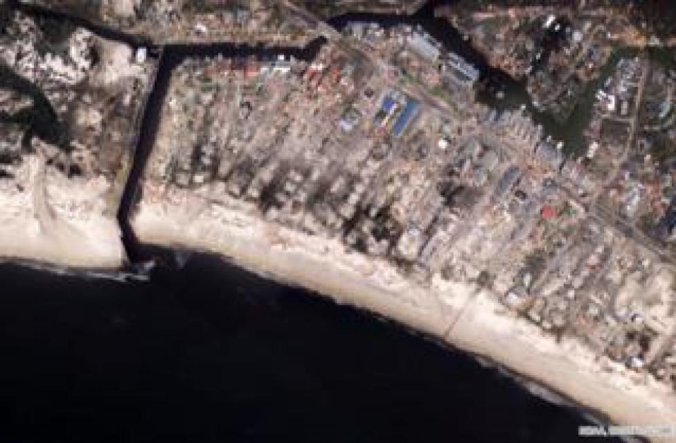NEWS Mexico Beach City Pier, satellite image taken on 11 October 2018