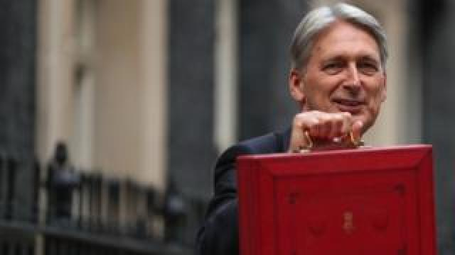 Chancellor Philip Hammond with the Budget box