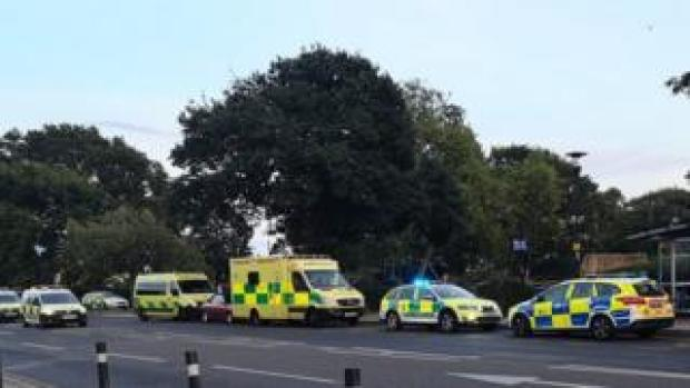 Police near Chalkwell Park after stabbing