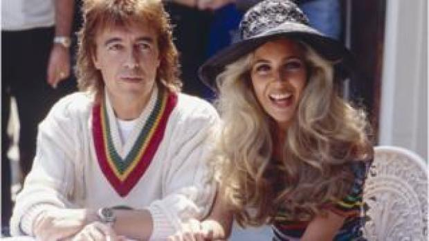 Bill Wyman with Mandy Smith