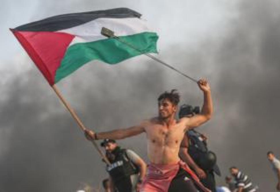 Palestinian protests on the border with Israel