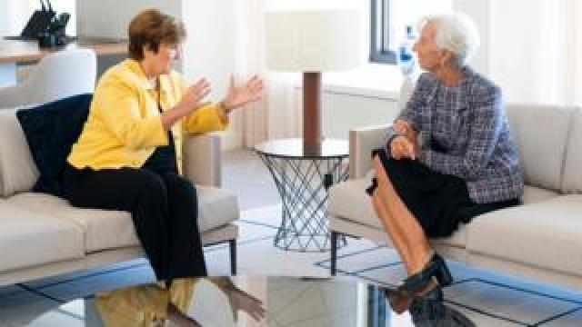 Kristalina Georgieva and Christine Lagarde