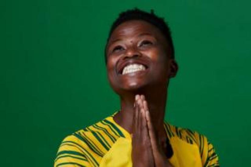 Mamello Makhabane of South Africa poses for a portrait during the official FIFA Women's World Cup 2019 portrait session in France on 5 June 2019.