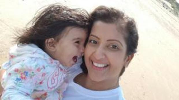 Kreena and her daughter, who was born with the help of a surrogate