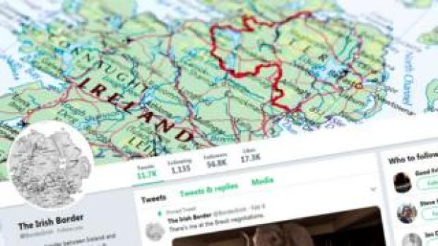 The Irish border: on a map and on Twitter