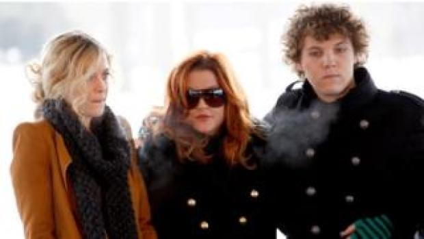 Riley and Benjamin Keough with Lisa Marie Presley in 2010