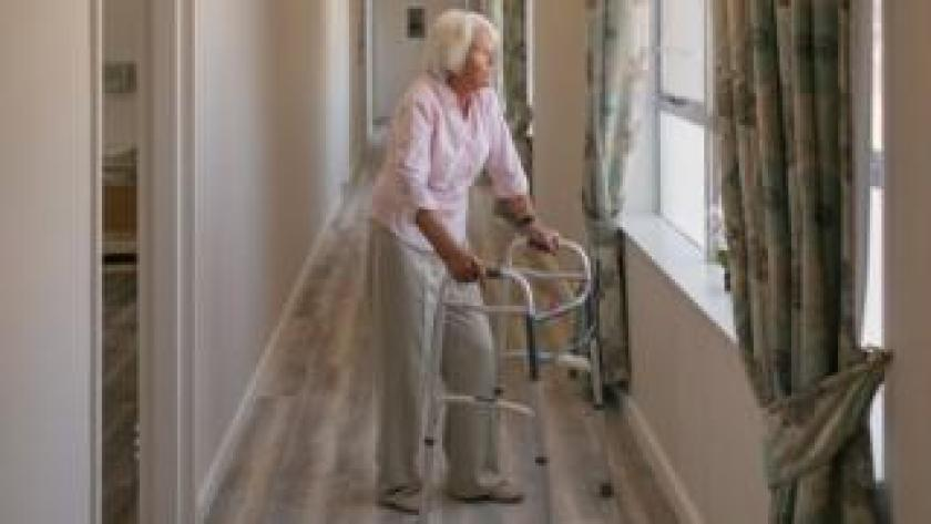 Woman in a care home