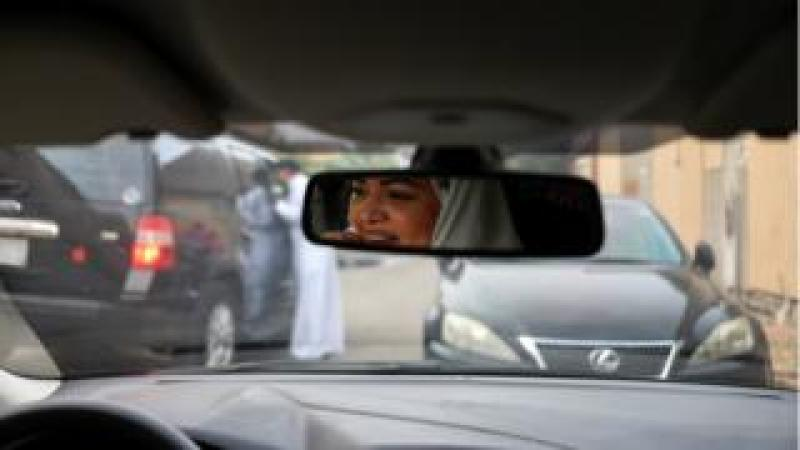 Dr Samira al-Ghamdi, 47, a practicing psychologist, drives around the side roads of a neighbourhood as she prepares to hit the road on Sunday as a licensed driver, in Jeddah, Saudi Arabia on 21 June 2018.