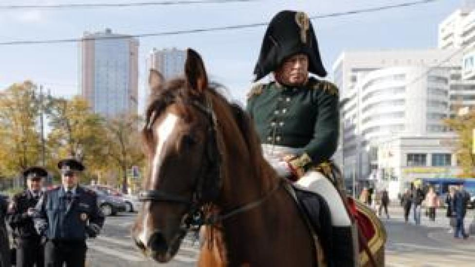 Oleg Sokolov wearing an 1812 Russian military uniform