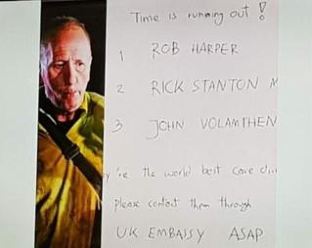 Note written by Vernon Unsworth