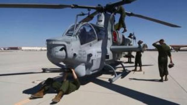AH-1Z Viper helicopter in Yuma