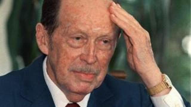 File photo of Alfredo Stroessner from February 1989