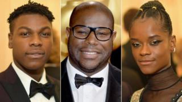 John Boyega, Steve McQueen and Letitia Wright