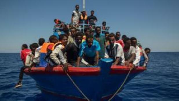Migrant boat off Libya, 2 Aug 2017