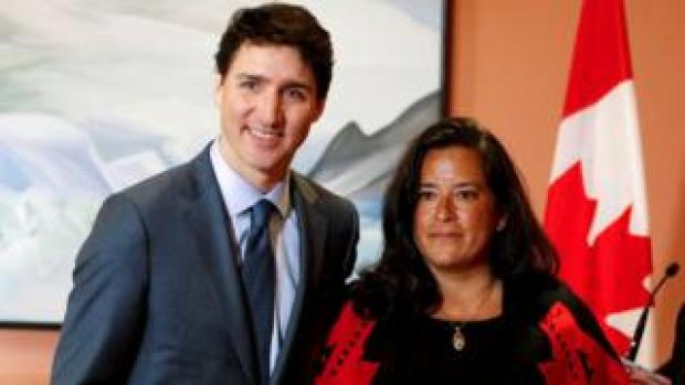 Jody Wilson-Raybould poses with Prime Minister Justin Trudeau