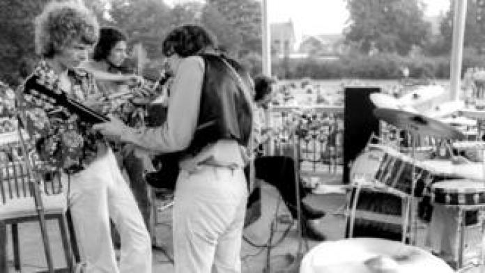 David Bowie performing from the Beckenham Bandstand