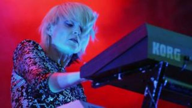 Sister Bliss on stage