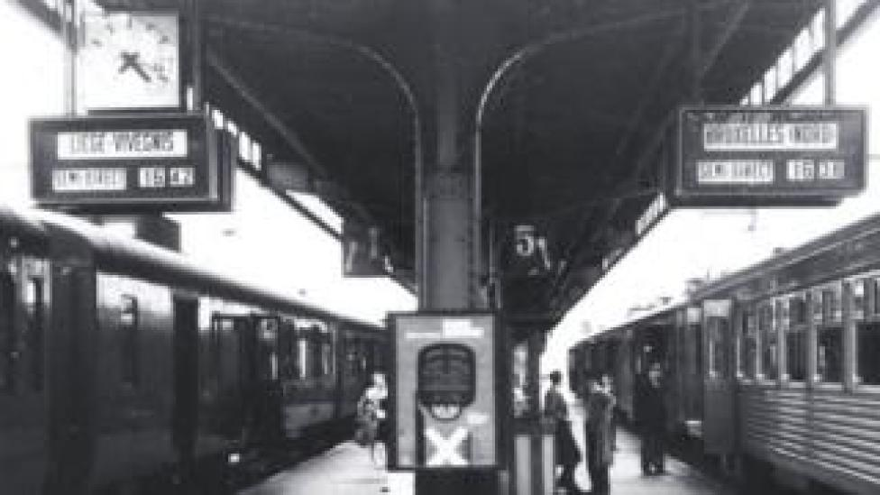 Solari di Udine's signs at Liege, 1956