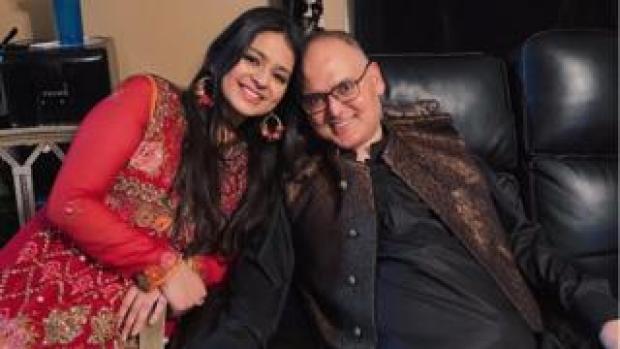 Natasha Salman with her 'baba'